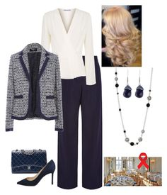 """""""Queen Rose attends the meeting of Leadership for Sustainable Development at Sida headquarters"""" by hm-queen-rose ❤ liked on Polyvore featuring Victoria Beckham, Elizabeth and James, Paule Ka, John Hardy, Chanel and Jimmy Choo"""