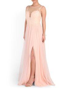 b04c847476b Illusion Neck Beaded Top Gown - Formal - T.J.Maxx