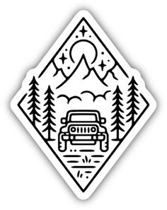 Remind yourself and others of the rugged roads and wilderness you love to explore with the Stickers Northwest Outdoor Jeep Scene sticker slapped onto a water bottle, laptop or bumper. Available at REI, Satisfaction Guaranteed. Stickers Cool, Jeep Stickers, Cute Laptop Stickers, Bubble Stickers, Snapchat Stickers, Funny Stickers, Printable Stickers, Making Stickers, Scrapbook Stickers