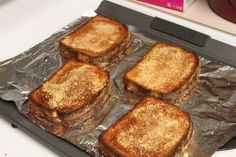 Grilled Cheese in the Oven - Maybe for a party w/different soups.