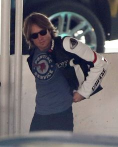 Keith Urban - Keith Urban Takes His Motorcycle for a Ride