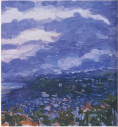 A Storm over Cannes by Winston Churchill. Yes, you read that right. Winston Churchill. He painted! And the ol' bulldog wasn't half bad.