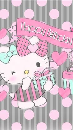 Happy Birthday Birthday Wishes For Kids, Happy Birthday Video, Happy Birthday Girls, Happy Birthday Pictures, Hello Kitty Birthday, Happy Birthday Quotes, Birthday Messages, Birthday Greetings, Happy Birthday Wallpaper