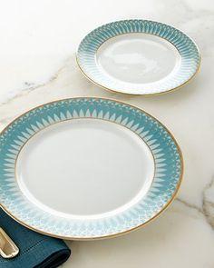 HB02D 12-Piece Olivia Azul Dinnerware Service & COLIN COWIE FOR HSN 24-piece Greek Key Dinnerware Set-Silver ...