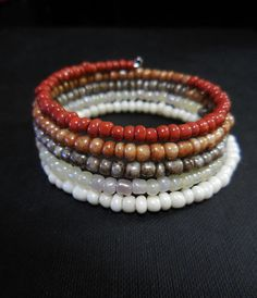 Memory wire wrap bracelet https://www.etsy.com/listing/199672376/earthy-colors-seed-bead-memory-wire