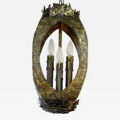 Tom Greene - Brutalist Space Age Metal Pendant by Tom Greene Brutalist Design, Aging Metal, Light And Space, Space Age, Lighting, Pendant, Home Decor, Decoration Home, Room Decor