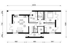 DOM.PL™ - Projekt domu NA A-11 CE - DOM NA1-02 - gotowy koszt budowy Floor Plans, Floor Plan Drawing, House Floor Plans