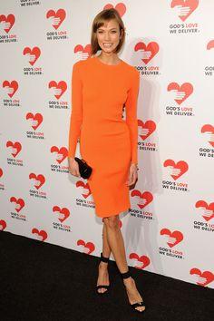 Orange Dress. Spirng 2014. Karlie Kloss