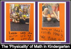 'Physicality of Math' in Kindergarten -- Teamwork Captured in Photographs