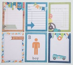 Boy Journaling Cards perfect for Project Life by goshery on Etsy