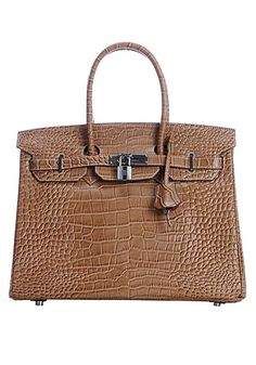 The Essential Jane Bag Croc Leather Brown made of quality leather can be in your closet if you want to review it! Fantastic promotion! http://bit.ly/1Kpy52c