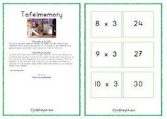 Rekenen groep 4/5: automatiseren en oefenen van tafels - Juf Anja