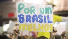 """Manifestação em São Paulo, """"por um Brasil melhor"""" Foto: ELIARIA ANDRADE / Agência O Globo #VemPraRua #OGiganteAcordou #ForaFeliciano #ForaFelicianus #ForaRenan #ChangeBrazil"""