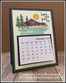 SU Waterfront Calendar | Cindy Lee Bee Designs