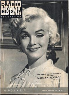 Marilyn Monroe Radio Cinéma Télevision French Mag 18 November 1956 | eBay