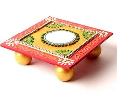 Pooja Room Design - Chowki Decoration