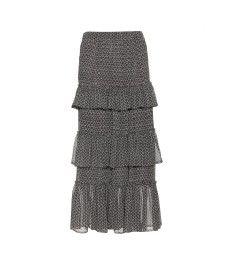 """Isabel Marant - Alisa - printed silk-chiffon midi skirt"""