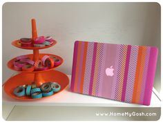 Laptop washi tape DIY by HomeMyGosh