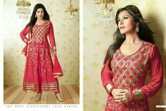 Semi stitched anarkali with zari and resham work @2499 http://www.themagicalthread.com/products-page/designer-suits/