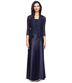 Alex Evenings Lace and Charmeuse Jacket Dress #Dillards  Another one!