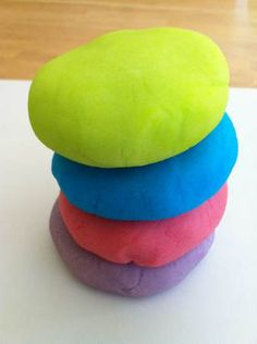 play dough colored