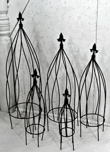 Wrought Iron Twist Flower Garden Trellis 5 Sizes Diy Garden