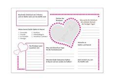 Gästebücher - DIY Gästebuch Steckbrief - 2 PDF Vorlagen - ein Designerstück von Sweets-for-your-Sweets bei DaWanda