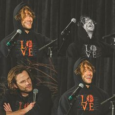 Jared at #SPNSF (San Francisco Con). #funny #moose Cr: Twitter: amyshaped