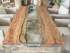 THE CONCRETE TABLE :: Design table Solid wood table with glass and stainless steel – at home – Number of Pinner Epoxy ideas Quelle epoxybp Bildgröße 736 x 559 Boardname Epoxy ideas Ansichten 0 Wood Furniture, Furniture Design, French Furniture, Kitchen Furniture, Furniture Ideas, Design Tisch, Design Table, Table Designs, Wood Design