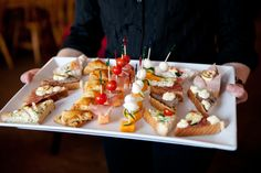 hors d'oeuvres served after the Wedding Ceremony
