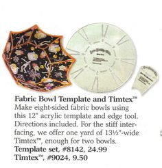 fabric bowl template