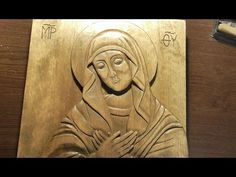 Woodcarving | Carved icon of Virgin Mary | handmade woodworking| DIY - YouTube