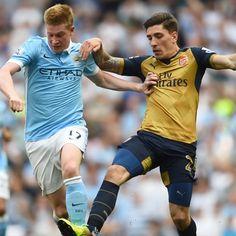 Kevin #deBruyne #ManCity contro Hector #Bellerin #Arsenal