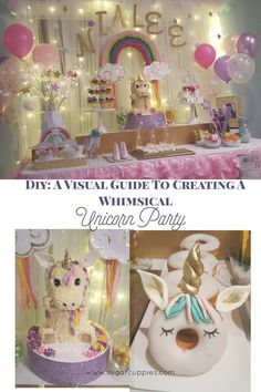 Unicorns, Rainbows and all things Magical! DIY party ideas and inspiration for a magical and whimsical unicorn Birthday Party! birthday cakes for girls ribbons) Unicorn Birthday Parties, First Birthday Parties, 3rd Birthday, Birthday Party Themes, First Birthdays, Diy Unicorn Party, Birthday Ideas, Birthday Decorations, Birthday Cakes