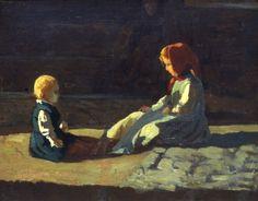 Banti Cristiano, Bimbi al sole, Galleria d'Arte Moderna Ricci Oddi, Piacenza