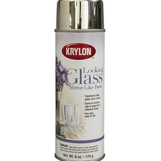 "Krylon Looking Glass Paint.  If you spritz the backside of the glass with water and then spray the paint, it will have the desired mottled look. Layering the paint and the water and sometimes wiping off the water that is acting as a ""resist"" to the paint creates a fantastic look. I highly recommend this stuff. It's not available in your local craft stores. One can goes a long way"