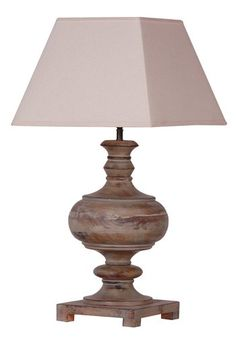 Large Distressed Grey Table Lamp with Beige Shade 750mm £177