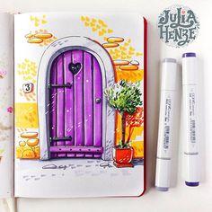 Day 9/31 of #inktober #inktober2017 #purpledoor #urbansketching #urbansketch #ar_sketch #architecturalsketch #door #copicmarker #copicsketch #sketcheveryday #art_we_inspire #topcreator #architecture #archsketching #doordrawing #art #sketchbook #sketchaday #dailysketch #doorsketch #doorscollection #doorsandwindows #world_doorsandwindows #artjournal #traveljournal #doors_aroundtheworld #igw_doors #julia_henze