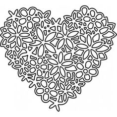 Impression Obsession Floral Lace Heart Die DIE054-S | Top Dog Dies Paper Cutting Patterns, Heart Stencil, Paper Cut Design, Christmas Paper Crafts, Card Making Supplies, Lace Heart, Stencil Templates, Mandala Coloring Pages, Paper Hearts