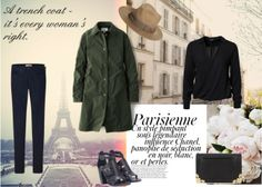 Tara from www.thestylerawr.com celebrates the simplicity of Parisian style with a look that puts this bottle green UNIQLO x Inès de La Fressange trench front and centre. #inesxuniqlo #Parisian