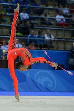 Maria Titova, Russia. Maria won the silver medal in all-around at the 2013 Pesaro World Cup.