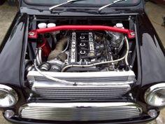 classic mini with E30 Turbo
