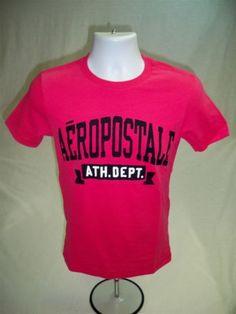 Aeropostale-Mens-Short-Sleeve-Graphic-T-shirt-Pink-size-S-Aero-Tee-New