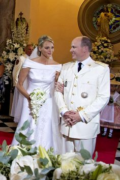 Royal Weddings - Photos through the years (BridesMagazine.co.uk) (BridesMagazine.co.uk)Prince Albert2nd of Monaco marries South African Olympic Swimmer  Charlene Wittstock in July,2011