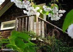 Private entrance - 'pond' suite at Bloom b on Salt Spring Island.