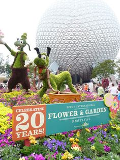 Check out the topiary pictures of Disney' Flower and Garden Festival at Epcot. It's their 20th anniversary!