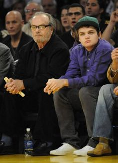 Jack Nicholson and son Raymond
