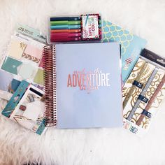 """a n d s o t h e a d v e n t u r e •BEGINS• Loving my new @erincondren planner and extra goodies. I'm going to start off the new year right! "" @micahpelletier"