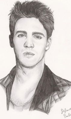 vampire diaries steven mcqueen drawing jeremy salvatore portrait gilbert drawings realistic wolf teen disney coloring sketches pages portraits stars zeichnungen