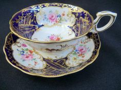Victorian Cabinet cup & saucer | Everything stops for tea Collectable retro antique & Vintage teaware tea & coffee sets trios cups saucers plates 18th to 20th century